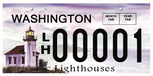 Lighthouse License Plate